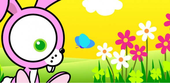The gallery for --> Cute Cartoon Bunnies With Big Eyes